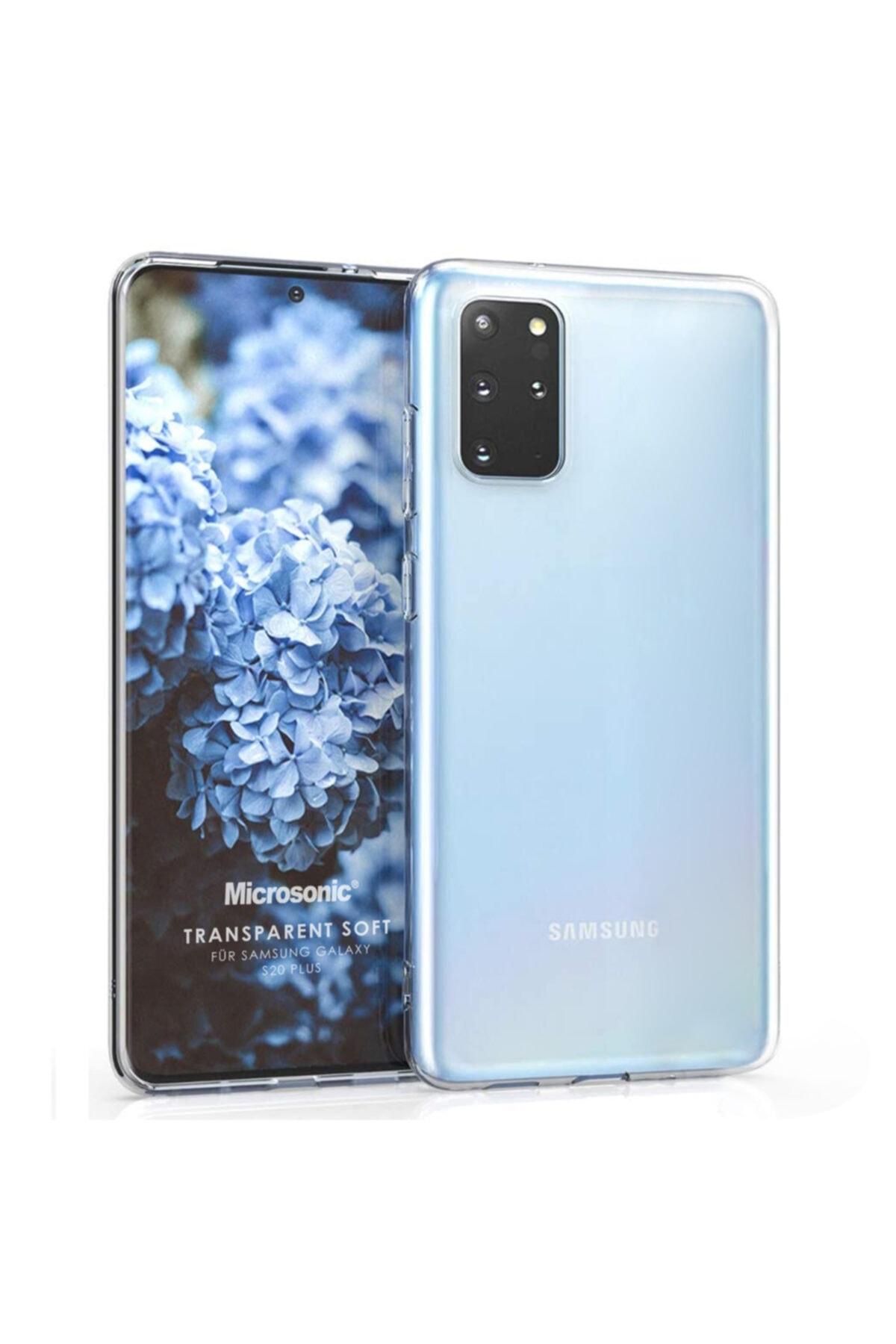 Microsonic Galaxy S20 Plus Kılıf Transparent Soft Beyaz