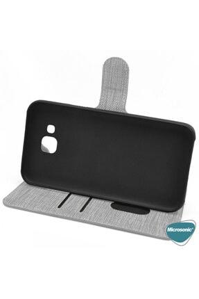 Samsung Microsonic Galaxy Note 10 Lite Kılıf Fabric Book Wallet Mor 4
