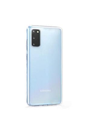 Samsung Microsonic Galaxy S20 Kılıf Transparent Soft Beyaz 1