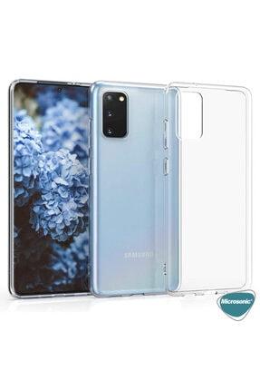 Samsung Microsonic Galaxy S20 Kılıf Transparent Soft Beyaz 4