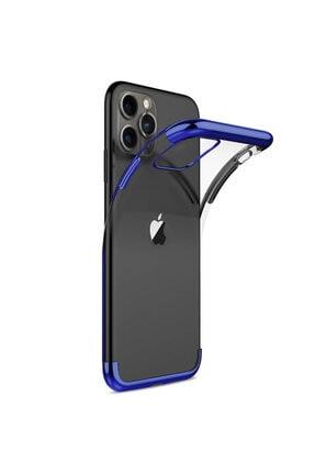 Apple Microsonic Iphone 11 Pro Max (6.5'') Kılıf Skyfall Transparent Clear Mavi 1