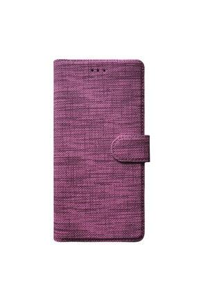 Samsung Microsonic Galaxy A71 Kılıf Fabric Book Wallet Mor 1