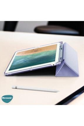 "Samsung Microsonic Galaxy Tab S6 Lite 10.4"" P610 Kılıf Origami Pencil Lila 3"