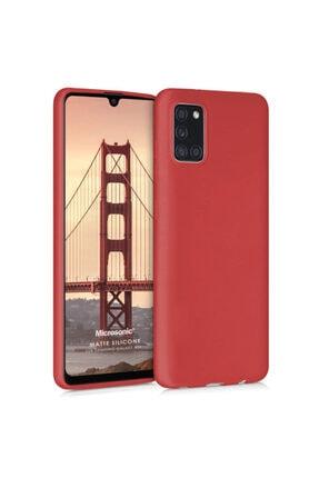 Samsung Microsonic Matte Silicone Galaxy A31 Kılıf Kırmızı 0