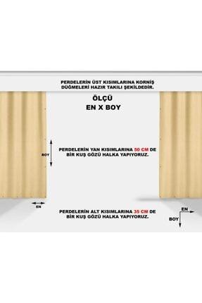 ALTINPAMUK Her Ölçüde Enxboy Seçenekli Kuşgözlü Balkon Perdesi Balkon Brandası Beyaz- 2