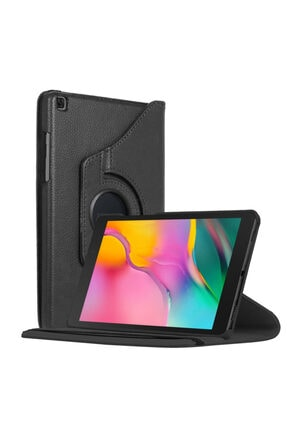 "Samsung Microsonic Galaxy Tab A 8"" 2019 T290 Kılıf 360 Rotating Stand Deri Siyah 0"