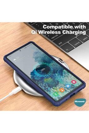 Samsung Microsonic Galaxy S20 Fe Kılıf Frosted Frame Lacivert 4