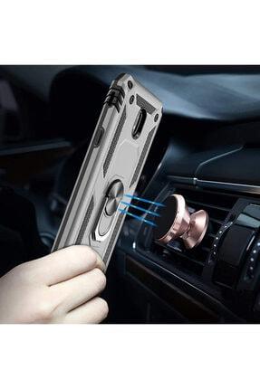 Samsung Microsonic Galaxy J7 Pro Kılıf Military Ring Holder Gümüş 2