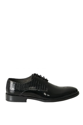 Altınyıldız Classics Erkek Siyah Klasik Rugan Ayakkabı 1