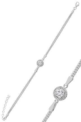 Söğütlü Silver Gümüş Zirkon Taşlı Yuvarlak Pırlanta Montürlü Gümüş Üçlü Set 1