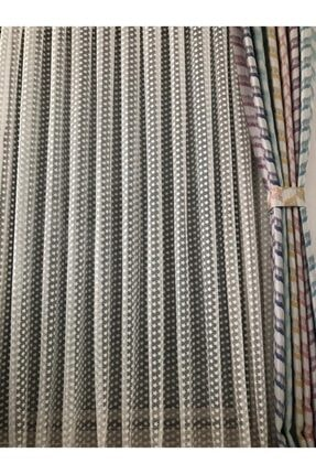 Perlingo Yıldız Desen Çocuk Odası Tül Perde 1/2 Pile Sıklığı 4