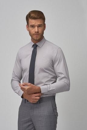 Altınyıldız Classics Erkek Gri Tailored Slim Fit Klasik Gömlek 2