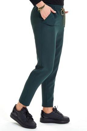 İkiler Beli Lastikli Kordonlu Cepli Pantolon 201-3520 4