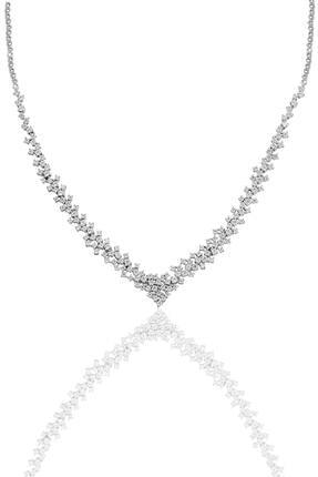Söğütlü Silver Gümüş Rodyumlu Pırlanta Modeli Su Yolu Gümüş Takım. 1