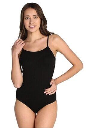 Tutku Kadın Siyah 3'lü Paket İp Askılı Likralı Kancalı Çıtçıtlı Body Elf568t0148ccm3 0