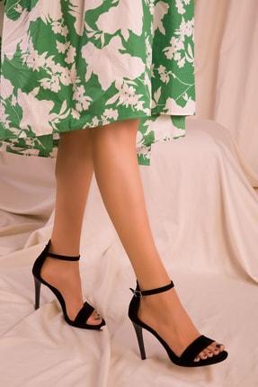 Soho Exclusive Siyah Süet Kadın Klasik Topuklu Ayakkabı 14530 2