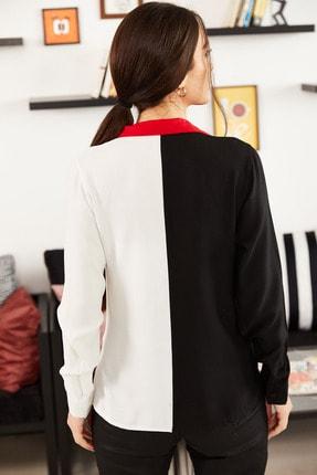 armonika Kadın Siyah Bloklu Uzun Kollu Gömlek ARM-21K001103 3