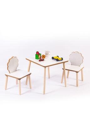 HESA Yumurcak Ağaç Masa Sandalye Takımı 1