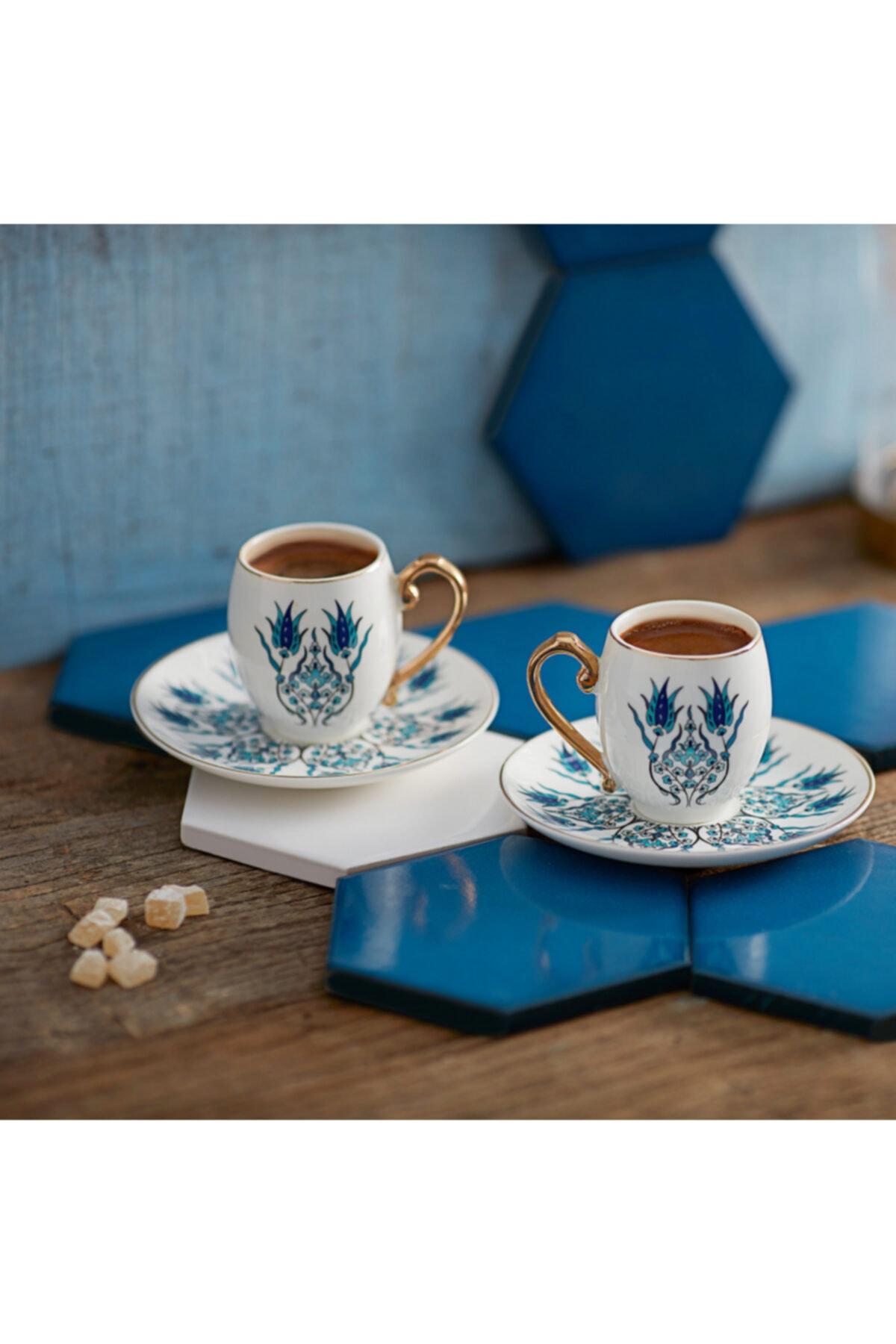 Iznik 2 Kişilik Kahve Fincanı Takımı