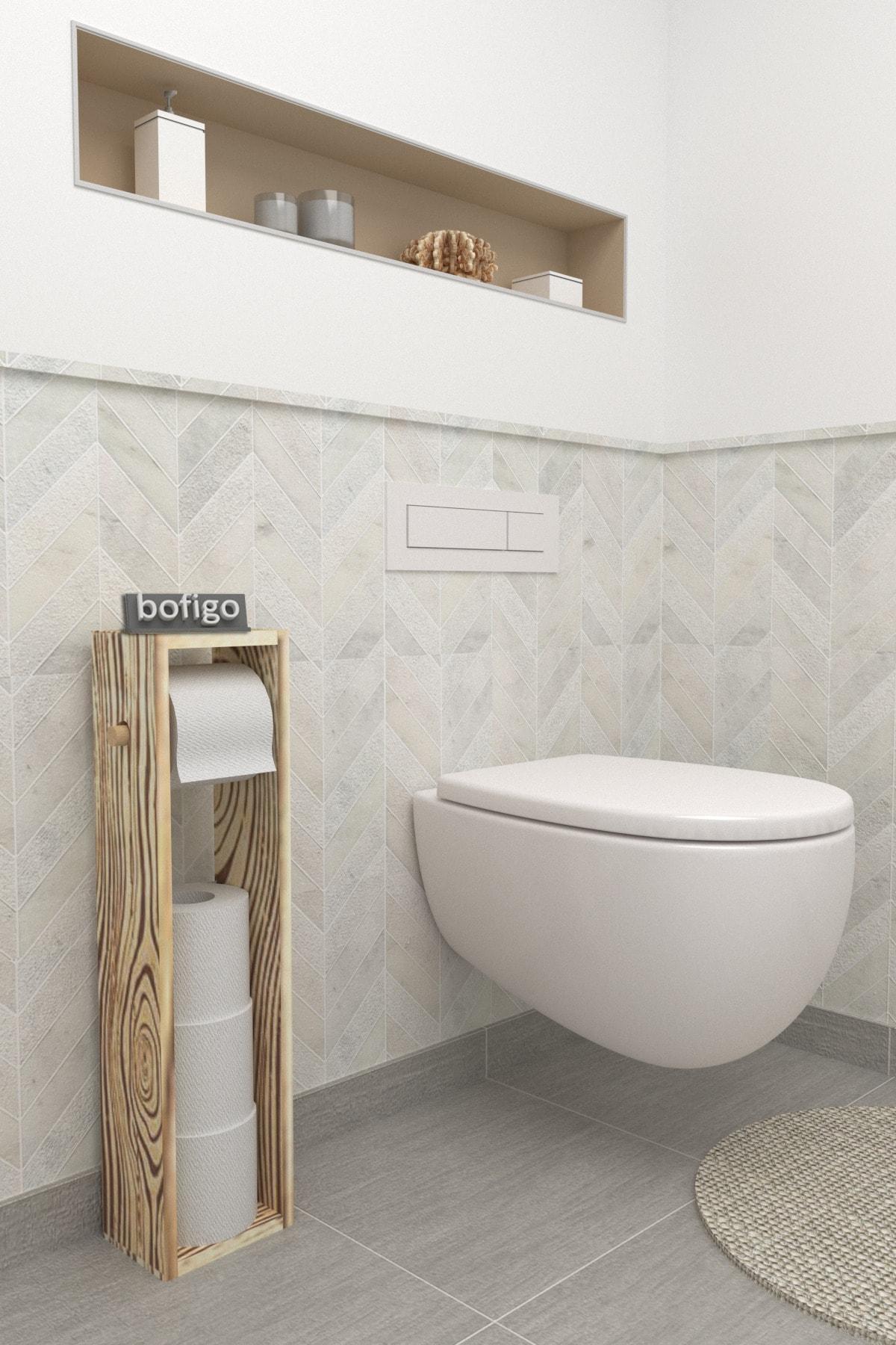 Tuvalet Kağıtlığı Wc Kağıtlığı Ahşap Tuvalet Kağıtlık