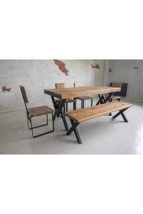 Deryawood Masif Mobilya Deryawood Masif Ağaç Yemek Masası 70*120*76 Cm 3