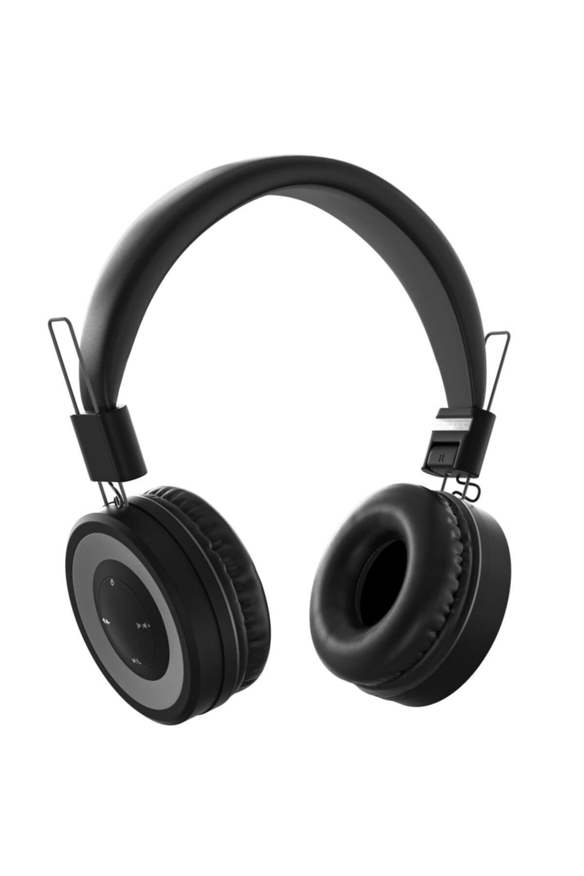 Acoustic 0136 Mikrofonlu Kulak Üstü Kablosuz Bluetooth Kulaklık Siyah