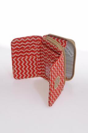 Smart Bags Smb1227-0134 Kırmızı/bej Kadın Cüzdan 2