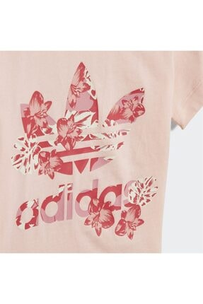 adidas Kız Bebek Pembe Baskılı  T-Shirt 3