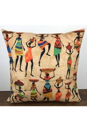 Cango Home Afrika Etnik Kadın Desenli Yastık Kırlent Kılıfı 1