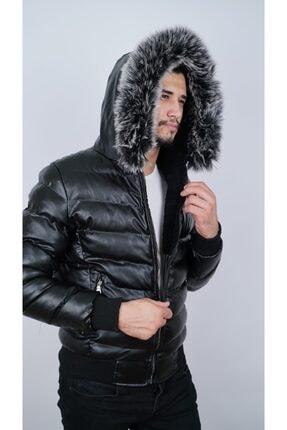 Ogb Tekstil Erkek Siyah Şişme Mont 4