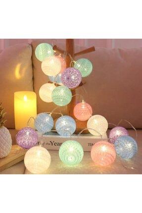 Nettenevime Renkli Led Işık Topları Dekoratif Işıklı Hasır Toplar 2