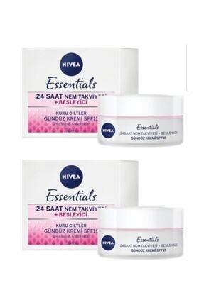 Nivea Essentials Besleyici Gündüz Kremi Kuru Cilt Spf15 50ml 2'li 0