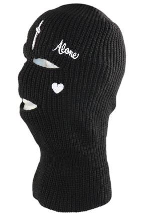 zirve şapka Kışlık Ünisex 3 Gözlü Kar Maskesi Siyah Kılıç 2