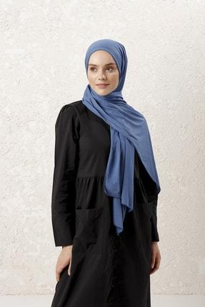 MUJERSCARFS Kadın Petrol Mavisi Penye Şal 2