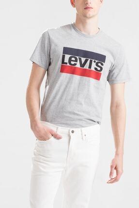 Levi's Erkek Gri Sportswear Logo Graphic T-shirt 39636 0002 0