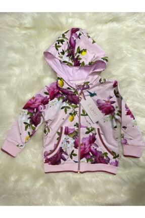 Kız Çocuk Çiçekli Ceket 27052