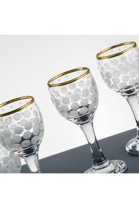 Pasajçeyiz Altın Yaldızlı Kesme Dekor Likör Zemzem Şerbet Bardağı Takımı Seti 2