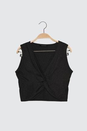 TRENDYOLMİLLA Antrasit Düğüm Detaylı Örme Bluz TWOSS21BZ0895 4