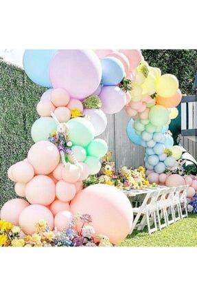 KullanAtParty Makaron Balon Jumbo Boy 18 Inc 45 Cm Beyaz Renk-5 Adet 2
