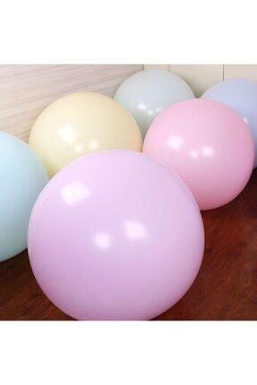 KullanAtParty Makaron Balon Jumbo Boy 18 Inc 45 Cm Beyaz Renk-5 Adet 3