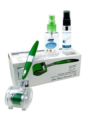 Zgts Green Line Dermaroller 0.50 mm Titanyum 540 İğneli Saç Yüz Cilt İçin Derma Roller 1