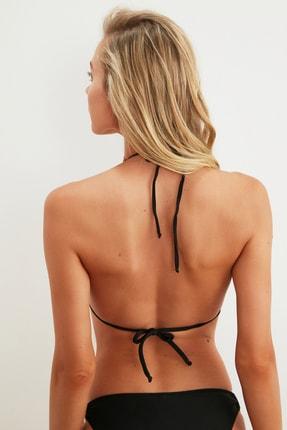 TRENDYOLMİLLA Siyah Aksesuar Detaylı Bikini Üstü TBESS21BU0298 2