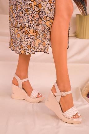 Soho Exclusive Ten Kadın Dolgu Topuklu Ayakkabı 16122 1