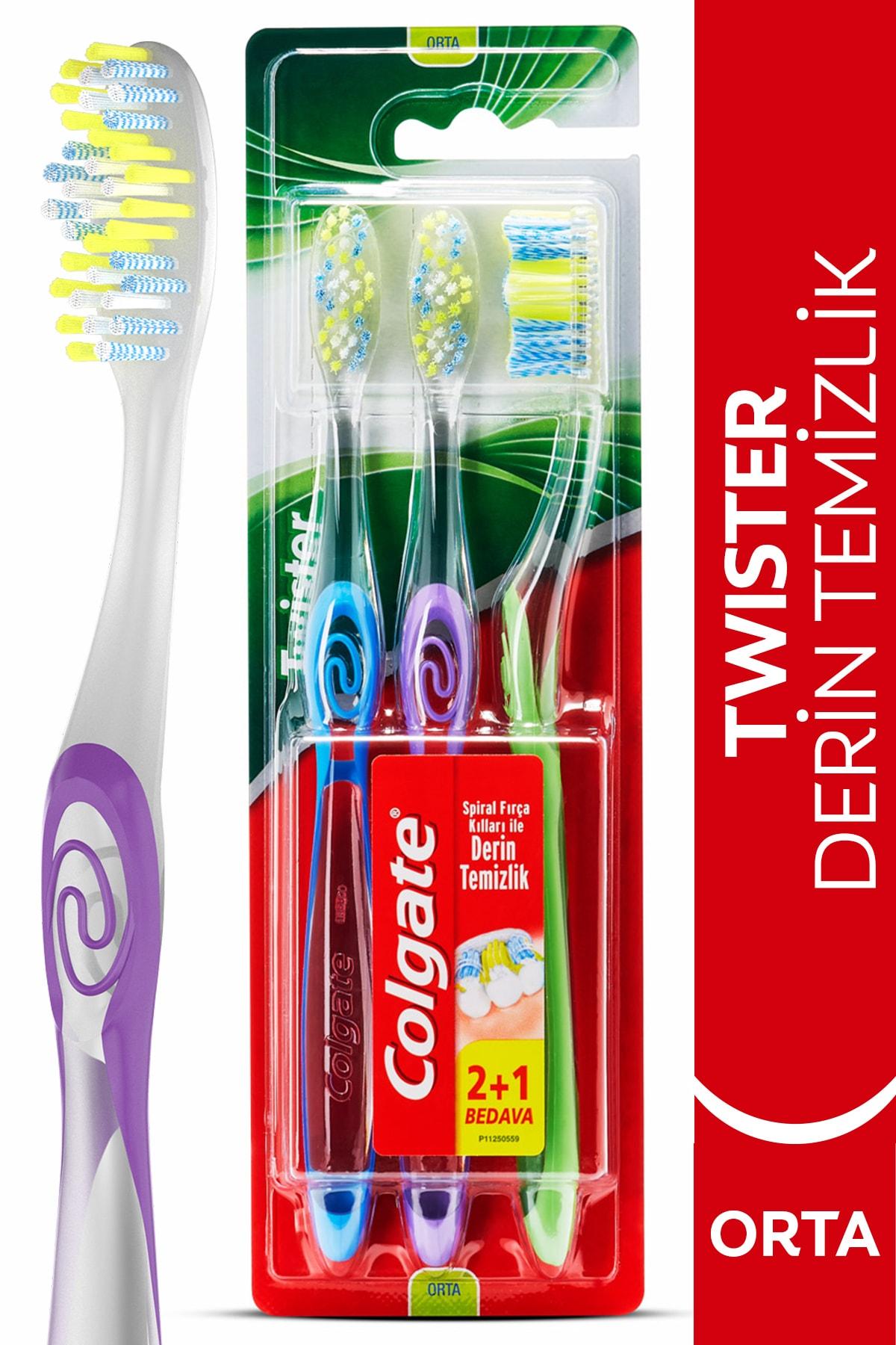 Twister Derin Temizlik Orta Diş Fırçası 2+1