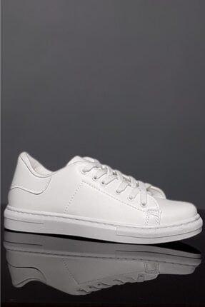 Moda Frato Unisex Beyaz Bağcıklı Günlük Spor Ayakkabı 3