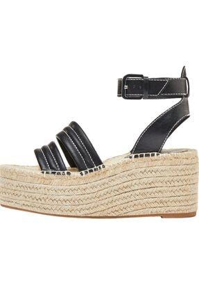 Bershka Dikiş Detaylı Hasır Platform Sandalet 2