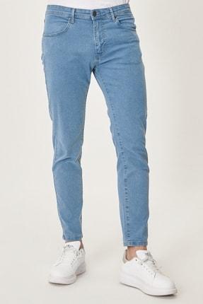 Altınyıldız Classics Erkek Buz Mavisi Slim Fit Dar Kesim Denim Esnek Jean Kot Pantolon 0
