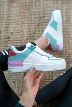 Bartrobel Kadın Beyaz Yeşil Günlük Spor Ayakkabı 0