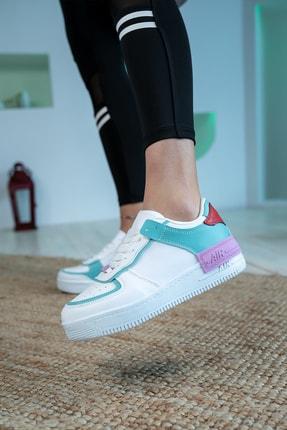 Bartrobel Kadın Beyaz Yeşil Günlük Spor Ayakkabı 4