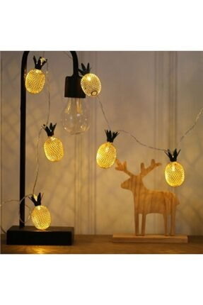Taled 3 Boyutlu Animasyonlu Pineapple Ananas Şerit Led Işık 1 M 10 Led Günışığı Dekoratif Led 1